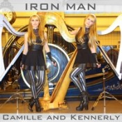 Camille and Kennerly (Harp Twins) - Iron Man