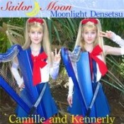 Camille and Kennerly (Harp Twins) - Moonlight Densetsu (Sailor Moon Theme)
