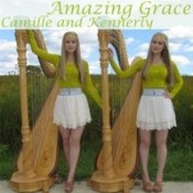 Camille and Kennerly (Harp Twins) - Amazing Grace
