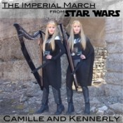 """Camille and Kennerly (Harp Twins) - The Imperial March (From """"Star Wars"""")"""